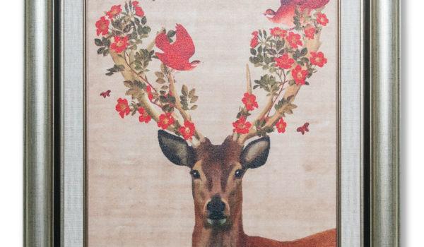 Картины в золотых рамах | Олени