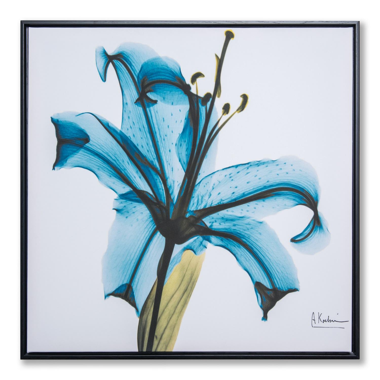 Картина в квадратной раме | Синий цветок