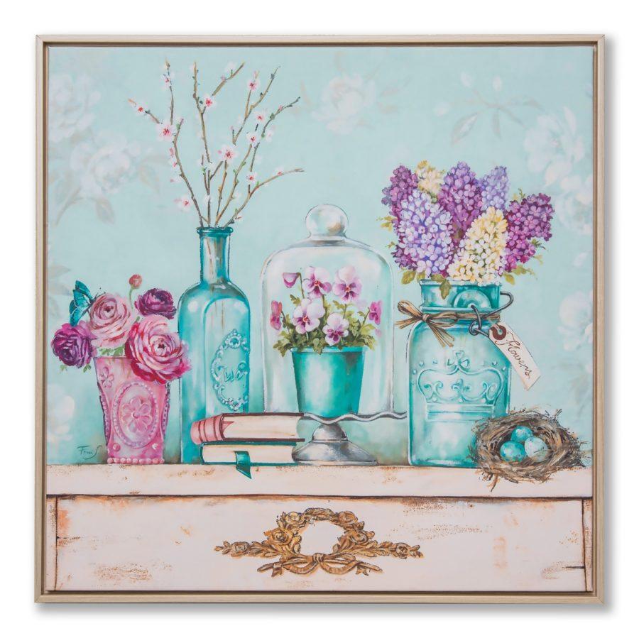 Картина в квадратной раме | вазы