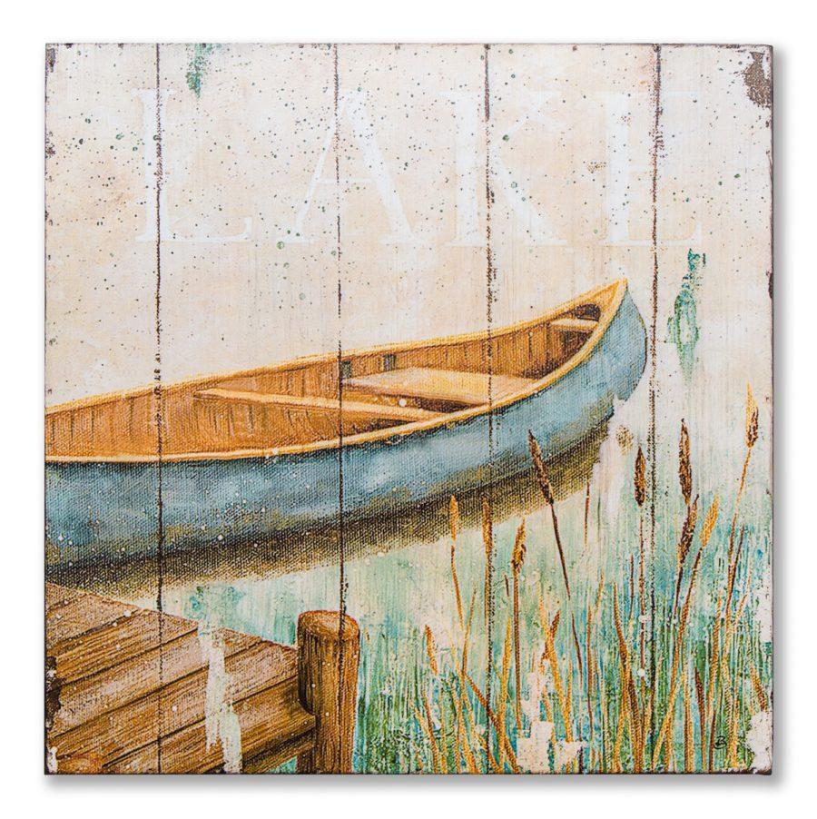 Картина в прямоугольной раме |Лодка