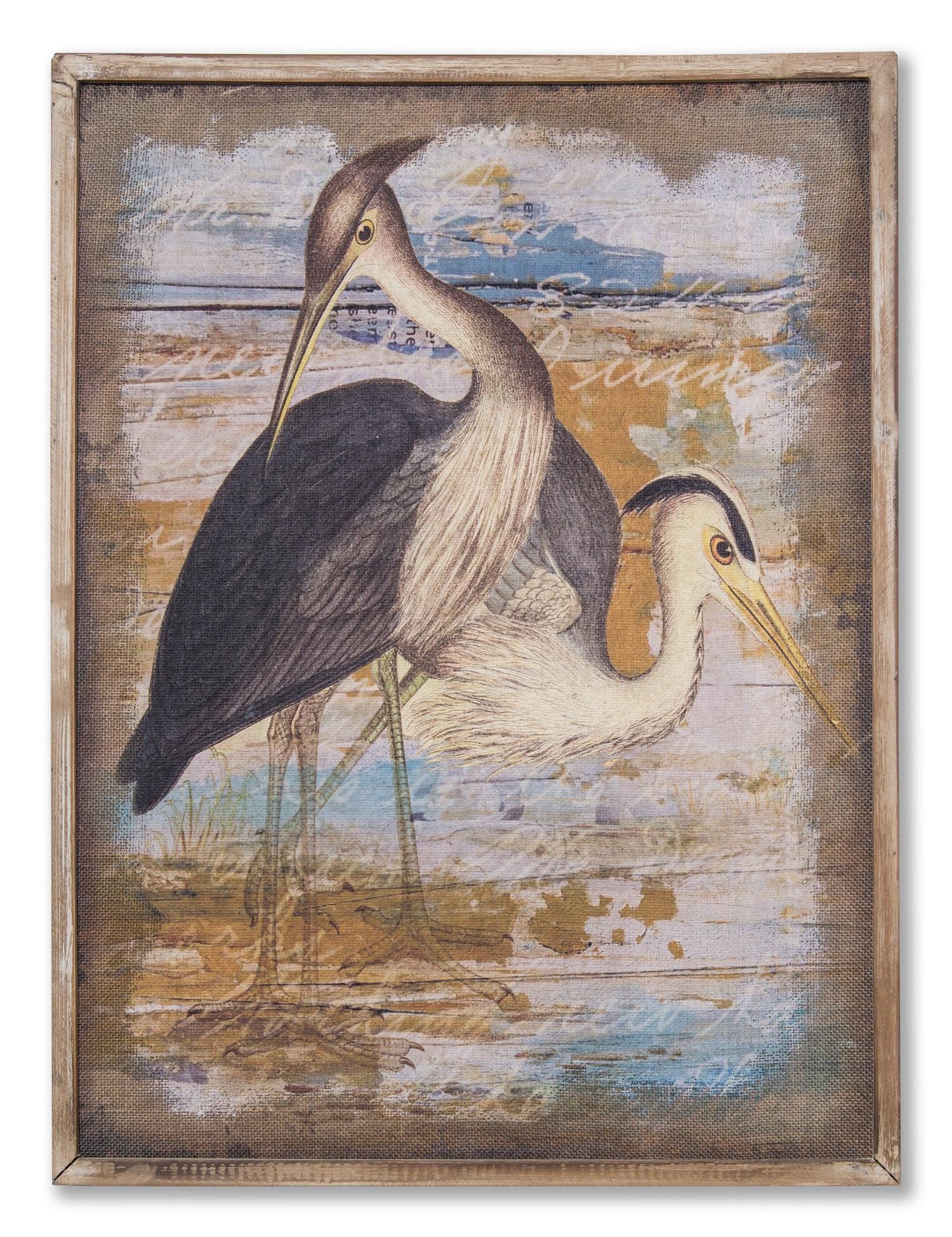 Картина в прямокутній рамі | Птахи на озері