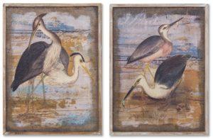 Картина в прямокутній рамі   Птахи на озері