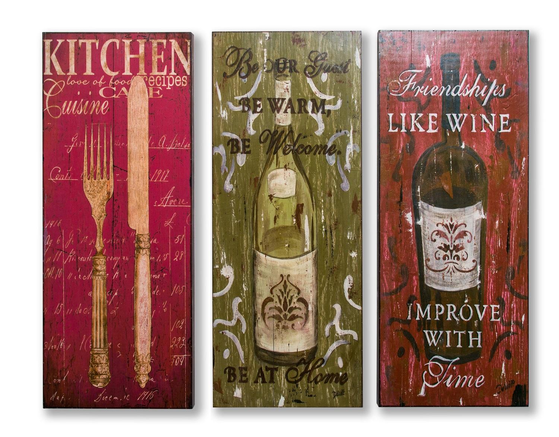 Картина в прямокутній рамі | Вино та столові прибори