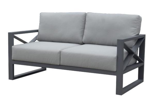 Двухместный диван из алюминия Linear