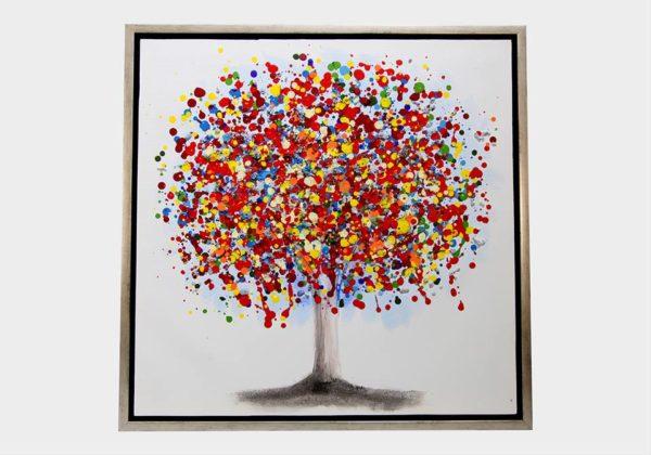 Картина в квадратной раме   Деревья