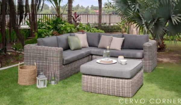 Диванный угловой комплект садовой мебели Cervo