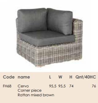Комплект для відпочинку Cervo corner set