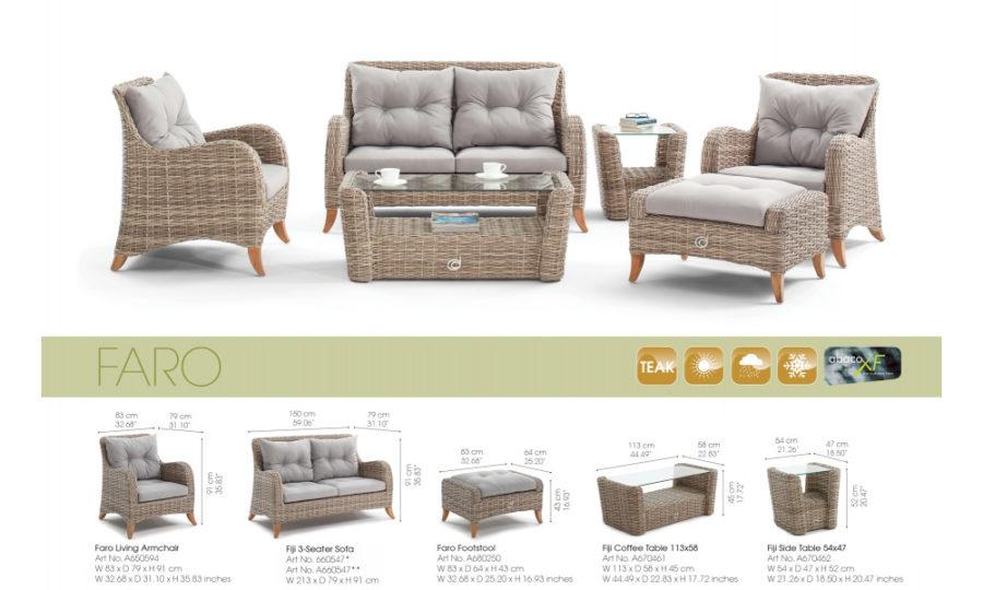 Faro комплект мебели для сада