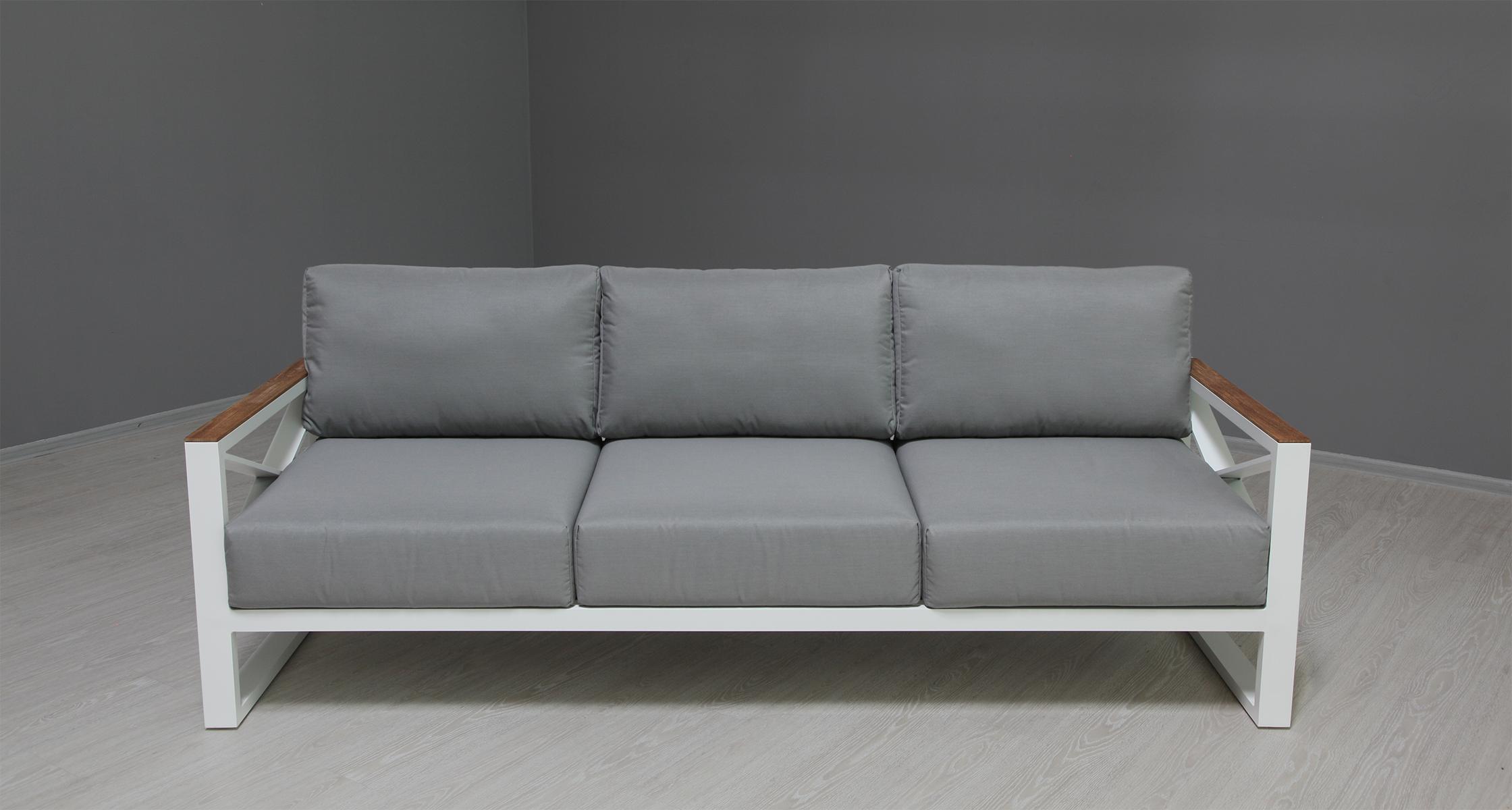 Тримісний диван з алюмінію LINEAR