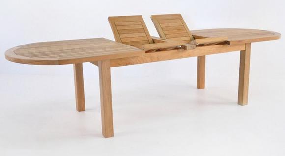 Capri Oval Teak Double Extension Tables