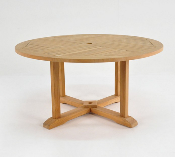 Round Teak Pedestal Dining Table