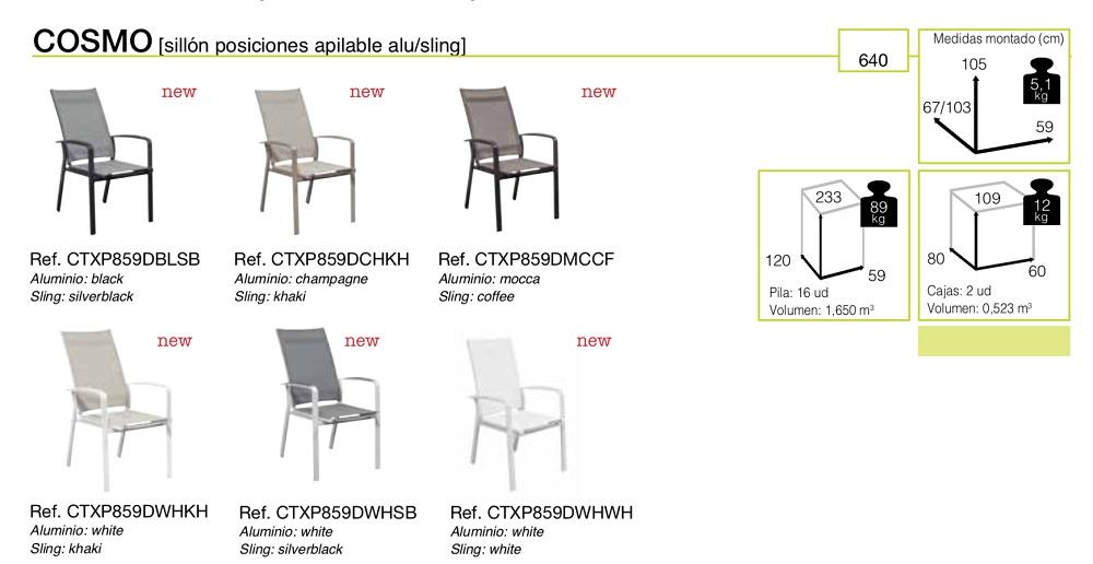 Кресло садовое из алюминия Cosmo