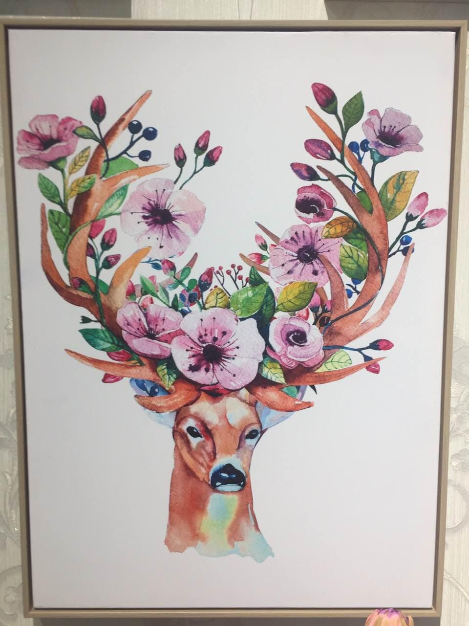 Картина в прямоугольной раме | Олени