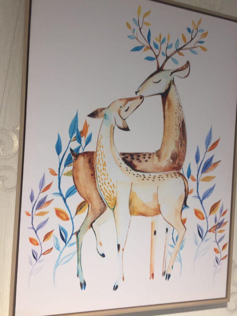 Картина с оленями