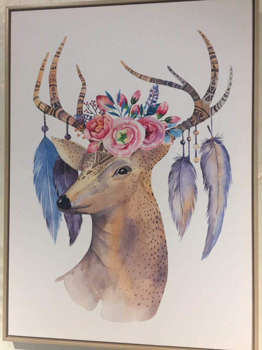 Картина с оленями.