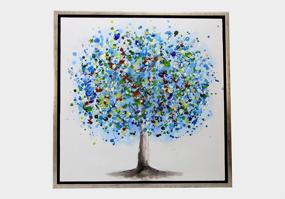 Картина в квадратной раме | Деревья