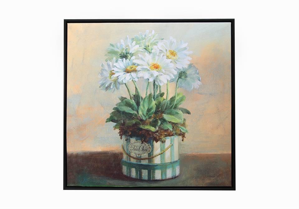 Картина в квадратной раме | Цветы