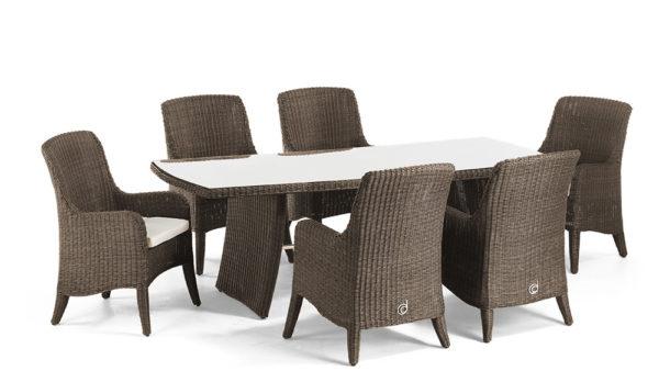Столові комплекти з ротанга (столи+стільці)