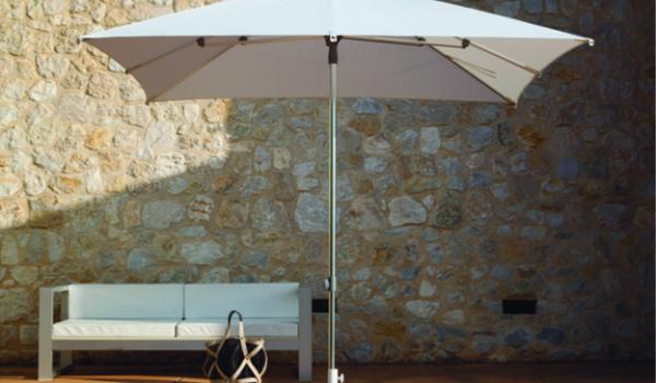 Садовый зонт белый