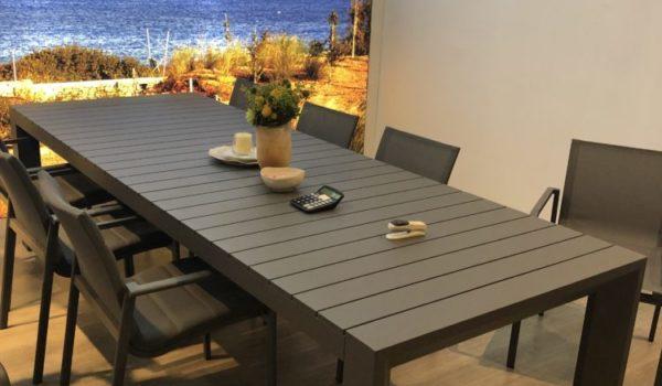 Стол для сада раскладной из алюминия