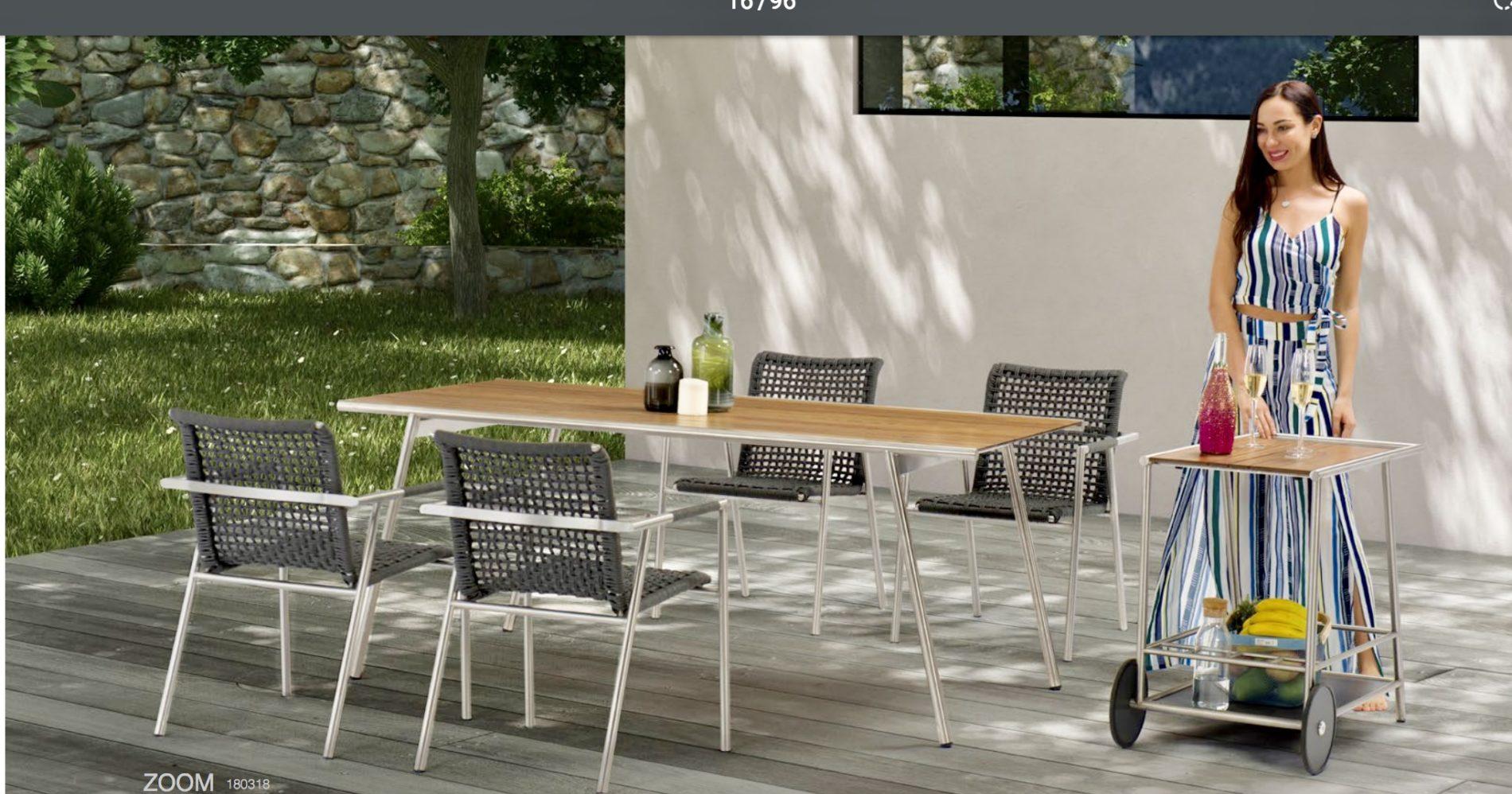 столовый набор садовой мебели zoom