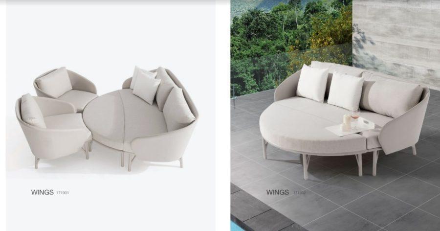 Комплект мебели для отдыха wings
