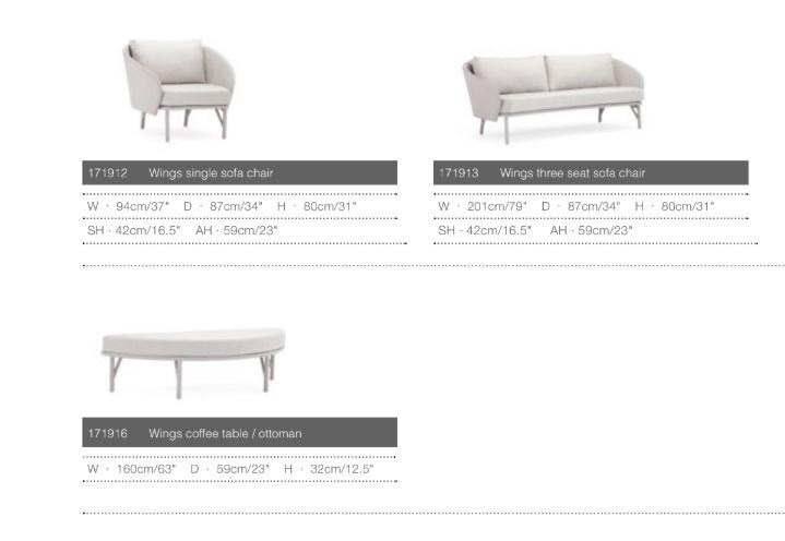 Комплект мебели для сада wings