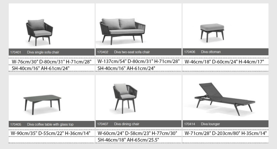 Набор мебели на террасу Diva
