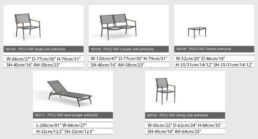 Polo Мебельный набор для сада
