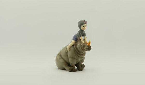 Девочка и носорог PD-150