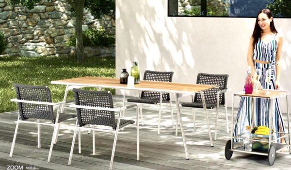 Столовый мебельный набор для сада Zoom