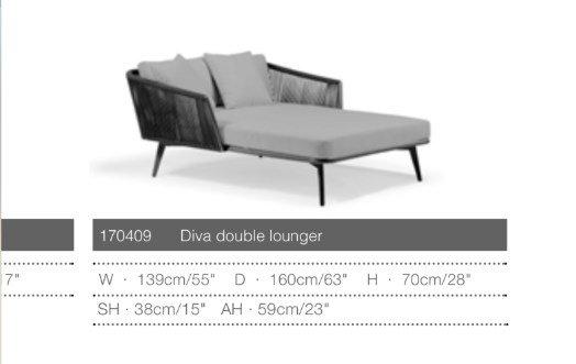 Diva Double Lounger - Двойной шезлонг