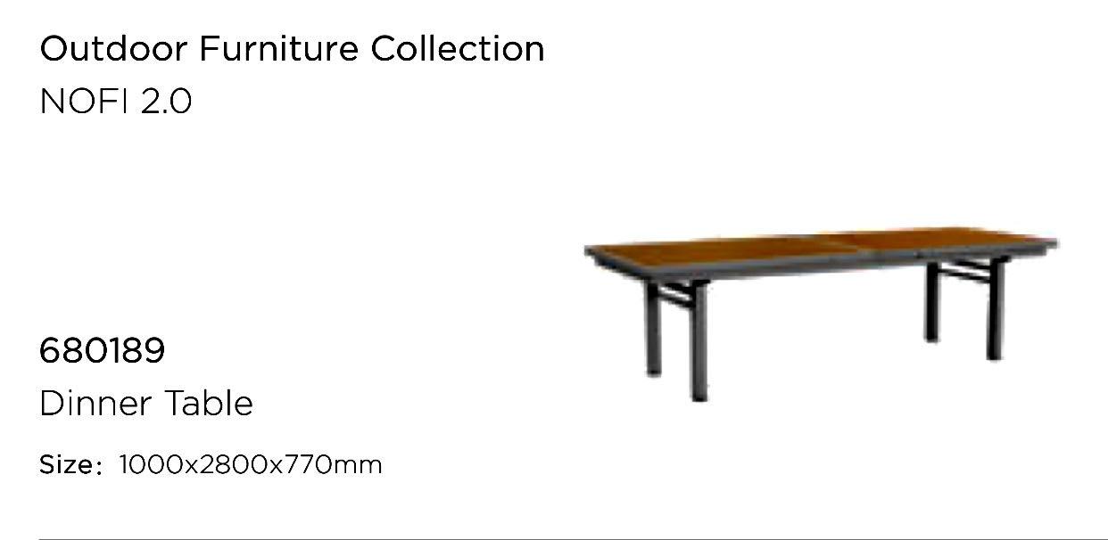 Стол из тикового дерева раскладной Nofi2 (280-340 см)