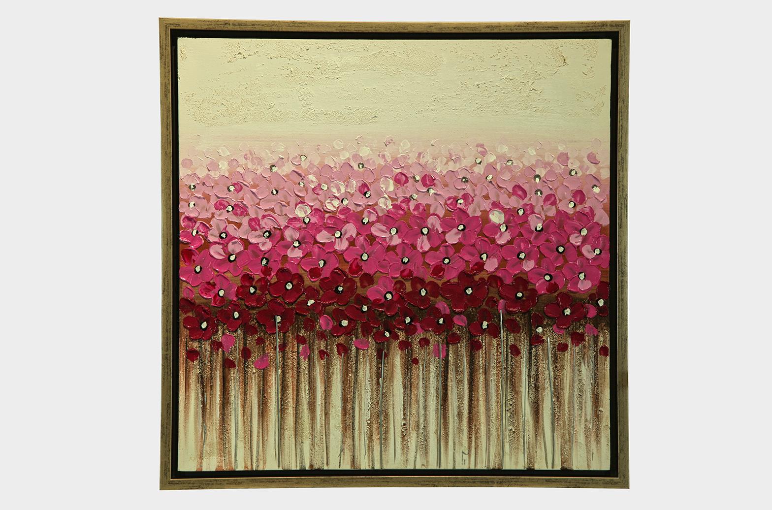 Картина Цветы  Beige