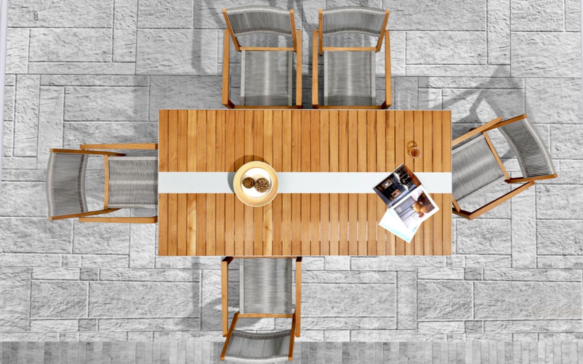 Обеденный стол CHAMPION (тиковое дерево)